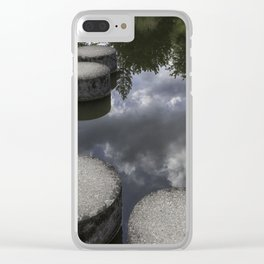 stepping stones; pathway through the clouds Clear iPhone Case