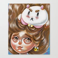 A Bee and her PuppyCat Canvas Print