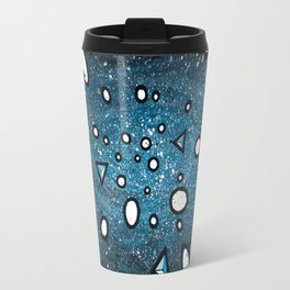 Asteroids Blue Galaxy Travel Mug