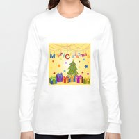 merry christmas Long Sleeve T-shirts featuring Merry Christmas by itsme.emi