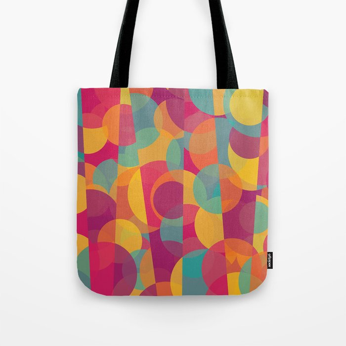 Abstract Circle Pattern - Colorful Dream Tote Bag