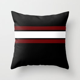 Team Colors...Maroon and white stripeswith black Throw Pillow