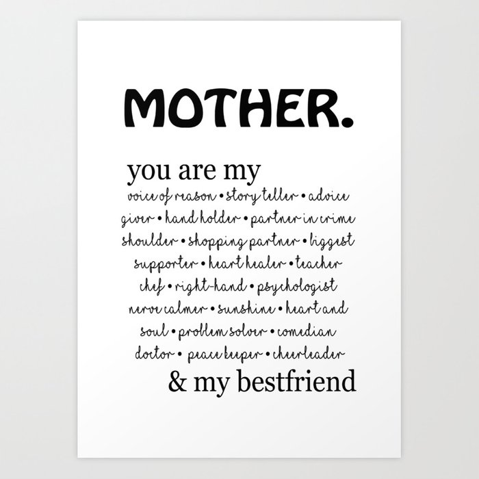 mother quotes Art Print by neeoart
