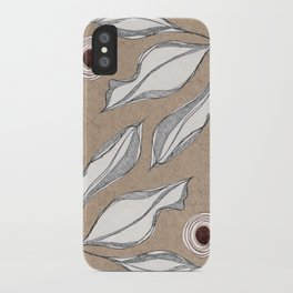 Sketch Leaves iPhone Case
