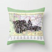 montana Throw Pillows featuring Montana by Ursula Rodgers