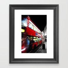 double decker Framed Art Print