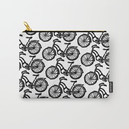 roule ma poule - wanna ride my bicycle BLACK Carry-All Pouch