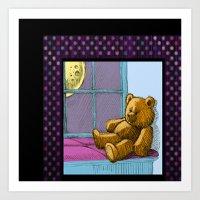 Teddy Midnight Art Print