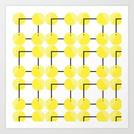 pattern circulos amarillos Art Print
