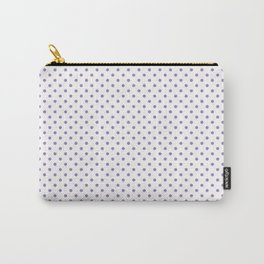 Modern geometric violet lavender white polka dots pattern Carry-All Pouch