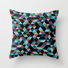 Triangles 4B Throw Pillow