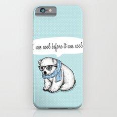 Hipster polarbear iPhone 6s Slim Case