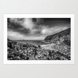 Cot Valley Porth Nanven 3 Black and White Art Print