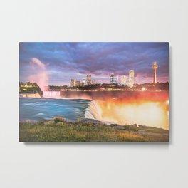 Niagara Falls: The Flow Aglow Metal Print