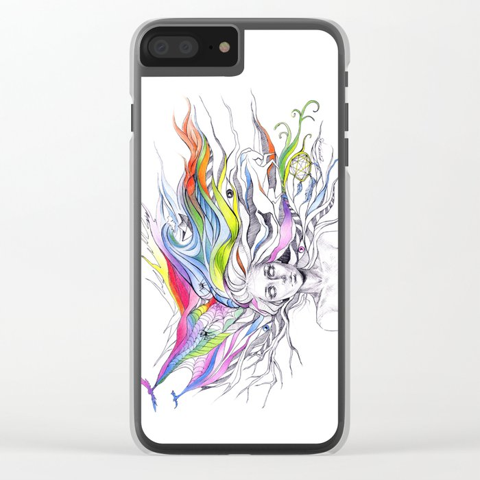 Dreams are made winding through her hair Clear iPhone Case