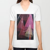 asia V-neck T-shirts featuring RED SPIRALS - Vietnam - Asia by CAPTAINSILVA