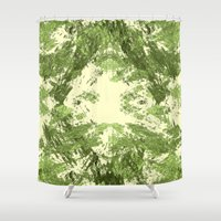 duvet cover Shower Curtains featuring Duvet Cover 408D by Michael Mackin