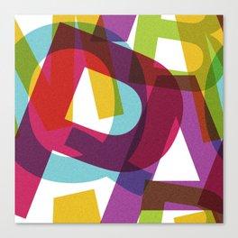 Crossletters Patterns Canvas Print