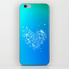 Heart2 Blue iPhone & iPod Skin