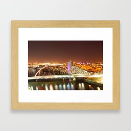 Clyde Arc Bridge. Framed Art Print