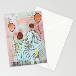 Balloons and Love Stationery Cards