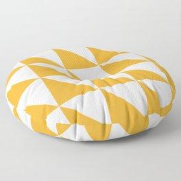 Geometric Pattern 01 Yellow Floor Pillow