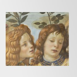 Sandro Botticelli - Angels 4. detail Throw Blanket