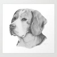 beagle Art Prints featuring Beagle by Doggyshop