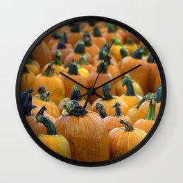 Pumpkin Field Wall Clock