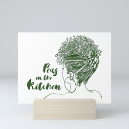 Peas in the Kitchen Mini Art Print