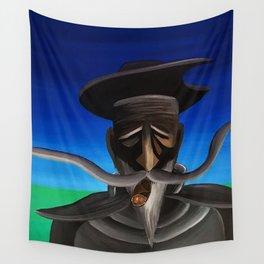 Don Quixote con Puro Wall Tapestry