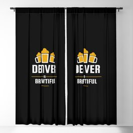 Denver Is Brewtiful Craft Beer with Barley & Hops Blackout Curtain