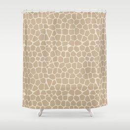 Light Giraffe Pattern Shower Curtain
