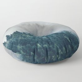 The Foggy Forest (Color) Floor Pillow