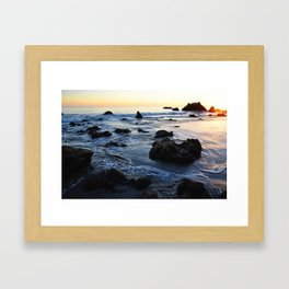 Sun Setting on El Matador Framed Art Print