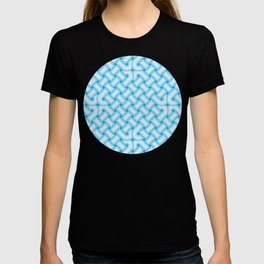 Light Blue Celtic Knot Pattern T-shirt