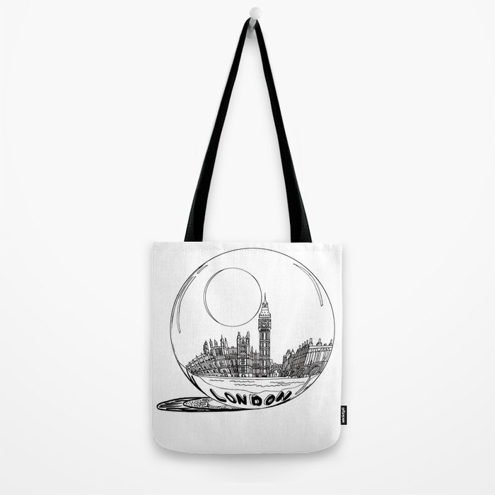 London in a glass ball . artwork Tote Bag