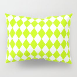 Rhombus (Lime/White) Pillow Sham
