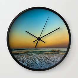 The Line is Drawn Wall Clock