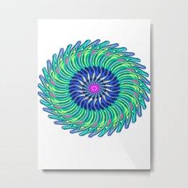green purple magic circle Metal Print
