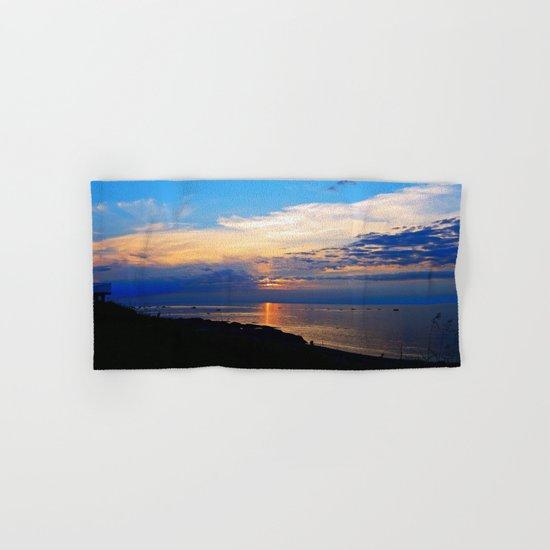 Sunset Balcony silhouette Hand & Bath Towel
