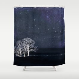 The Fabric of Space and the Boundary of Knowledge Shower Curtain