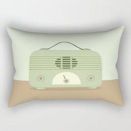 Vieja radio verde Rectangular Pillow