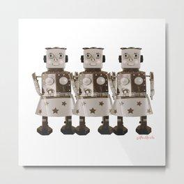 Robot girl Metal Print