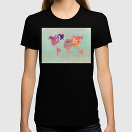 world map 102 #worldmap #map T-shirt
