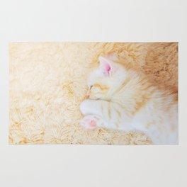 Sleeping Kitten Rug