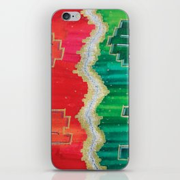 Mending the Rift - Red, Green & Gold iPhone Skin