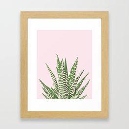 Desert Blossom - Pink and Green Succulent Framed Art Print