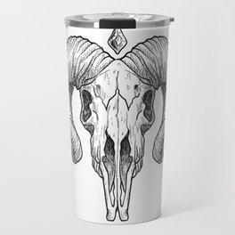 Skull Sketch Travel Mug