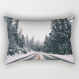 Winter Drive Rectangular Pillow